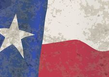 Texas State Flag. The flag of the USA state of TEXAS with grunge effect Stock Images