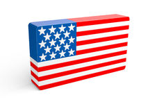 Flag of the USA (United States of America). Stock Image