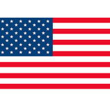 Flag usa. Flag of the United States, seven red stripes, and asterisks denoting states Stock Image