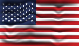 Flag of the USA. Vector illustration of a flag of the USA Royalty Free Stock Images