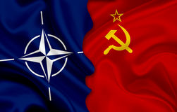 Flag of USSR and flag of NATO Stock Photography