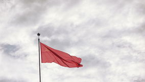 Flag of USSR on nature stock video footage