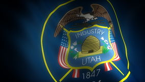 Flag of Utah. (seamless) (digitally generated video stock footage