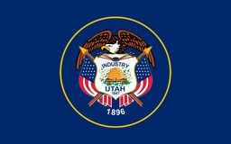 Flag of Utah, USA. Flag of Utah is a state in the western United States Stock Photos