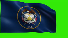 Flag of Utah, UT, Salt Lake City, January 4 1896, State of The United States of America, USA state - LOOP stock video footage