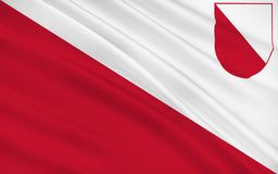 Flag of Utrecht, Netherlands. Flag of Utrecht is the capital and most populous city in the Dutch province of Utrecht royalty free stock photo