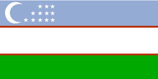 Flag of Uzbekistan Royalty Free Stock Photo