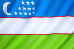 Flag of Uzbekistan Royalty Free Stock Photography