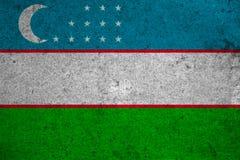 Flag Uzbekistan Stock Photo