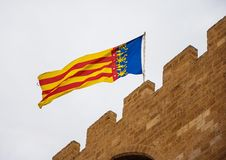Flag of Valencia Royalty Free Stock Photo