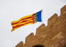 Flag of Valencia Royalty Free Stock Photo