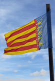 Flag of Valencia, Spain Royalty Free Stock Images