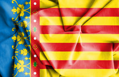 Flag of Valencian Community, Spain. 3d Rendered Flag of Valencian Community, Spain Royalty Free Stock Photo