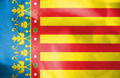 Flag of Valencian Community, Spain. 3d Rendered Flag of Valencian Community, Spain Royalty Free Stock Image