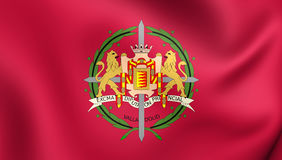 Flag of Valladolid Province, Spain. 3D Flag of Valladolid Province, Spain. Close Up Royalty Free Stock Image