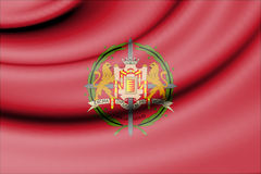 Flag of Valladolid Province, Spain. Stock Images