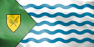 Flag of Vancouver, Canada. 3d Rendered Flag of Vancouver, Canada Stock Photos