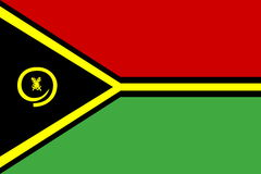Flag of Vanuatu Royalty Free Stock Photography