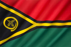 Flag of Vanuatu. The flag of Vanuatu - adopted on 13 February 1980. When the Vanua'aku Party led the New Hebrides to independence as Vanuatu in 1980, the colours Royalty Free Stock Photos