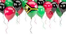 Flag of vanuatu on balloons Royalty Free Stock Photography