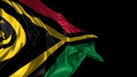 Flag of Vanuatu. Beautiful   3d animation of Vanuatu flag with alpha channel stock video