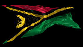 Flag of Vanuatu. Beautiful   3d animation of Vanuatu flag with alpha channel in 4k resolution stock video footage