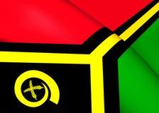 Flag of Vanuatu Stock Photo