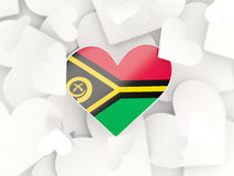 Flag of vanuatu, heart shaped stickers Stock Photos