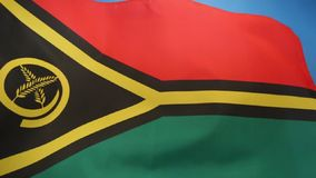 Flag of Vanuatu - South Pacific stock footage