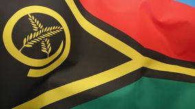 Flag of Vanuatu - South Pacific stock video footage