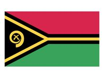 Flag of Vanuatu stock illustration