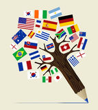 Flag Variety concept pencil tree Stock Images