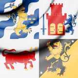 Flag of Vastra Gotaland, Sweden. Stock Photography