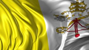 Flag of Vatican City. Beautiful   3d animation of Vatican City flag in loop mode stock video