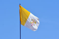 Flag of the Vatican City and the Holy See in Jerusalem, Israel Stock Images