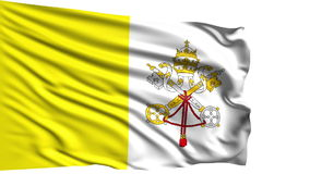 Flag of the Vatican City (loop) stock footage