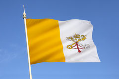 Flag of The Vatican City - Rome - Italy. The flag of the Vatican City was adopted in June 1929, the year Pope Pius XI signed the Lateran Treaty with Italy stock images