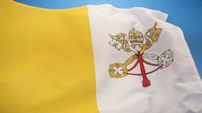 Flag of The Vatican City. The flag of the Vatican City was adopted in June 1929, the year Pope Pius XI signed the Lateran Treaty with Italy, creating a new stock video footage