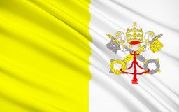 Flag of Vatican. City - The  City was adopted on 7th June 1929, the year Pope Pius XI signed the Lateran Treaty with Italy, creating a new independent state Vector Illustration