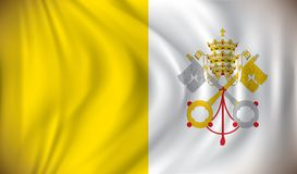 Flag of Vatican. Vector illustration Royalty Free Stock Photo