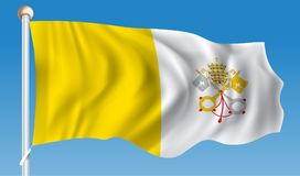 Flag of Vatican. Vector illustration Royalty Free Stock Image