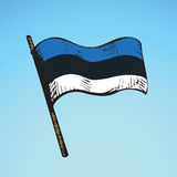 Flag. Vector drawing Royalty Free Stock Image