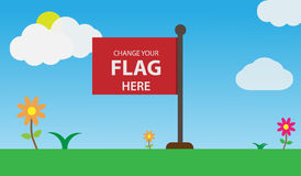 Flag Vector Mockup. With clean design, easy to edit. EPS 10 royalty free illustration