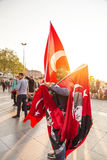 Flag vendor, Istanbul Royalty Free Stock Photography