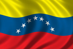Flag of Venezuela. Waving in the wind Stock Photo
