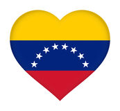 Flag of Venezuela heart Royalty Free Stock Photos