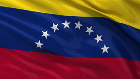 Flag of Venezuela seamless loop Royalty Free Stock Photo