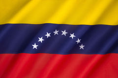 Flag of Venezuela. Was introduced in 2006. The basic design dates to 1811, and the Venezuelan War of Independence Stock Photo
