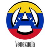 Flag of Venezuela of the world in the form of a sign of anarchy royalty free illustration
