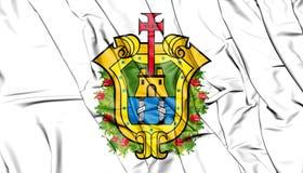 Flag of Veracruz, Mexico. 3D Illustration. Royalty Free Stock Images